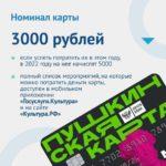 3000 рублей с пользой - Пушкинская карта, успеть до конца года!